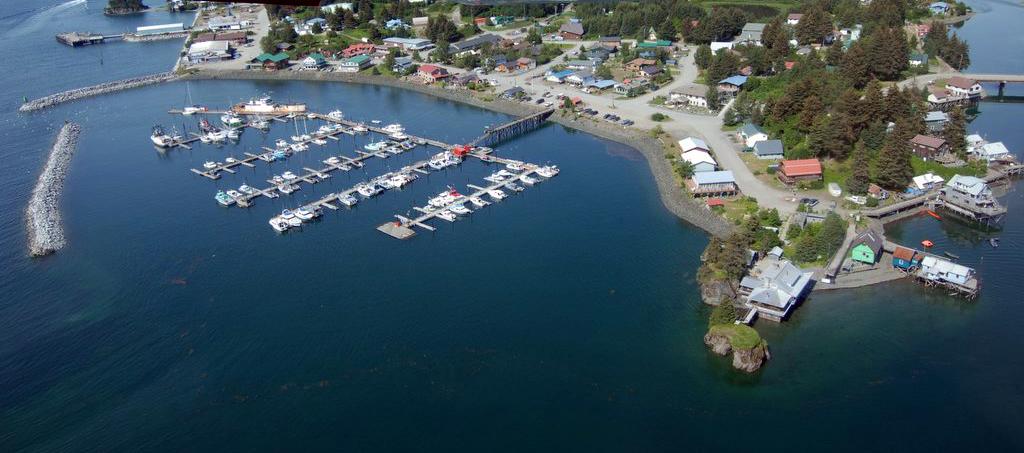 Aerial Harbor Picture Seldovia Alaska