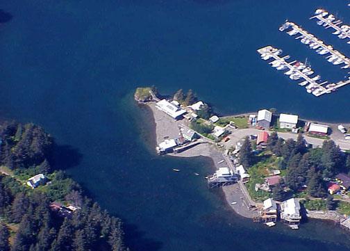 Aerial Close Up of Big House