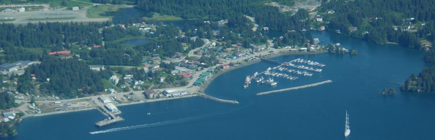 Aerial of Seldovia