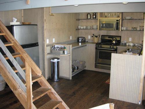 Rental Cabin Kitchen Seldovia Alaska